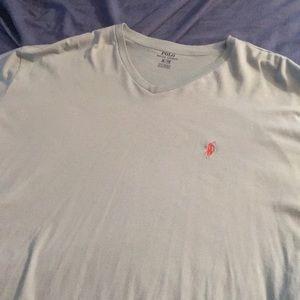 Men's v neck Ralph Lauren short sleeve shirt